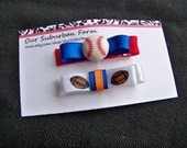 Chicago Sports Hair Clips Set of 2 Chicago Cubs Chicago Bears
