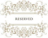 RESERVED listing for Joanne