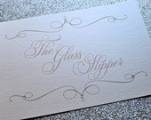 Cinderella inspired elegant signs for wedding or event