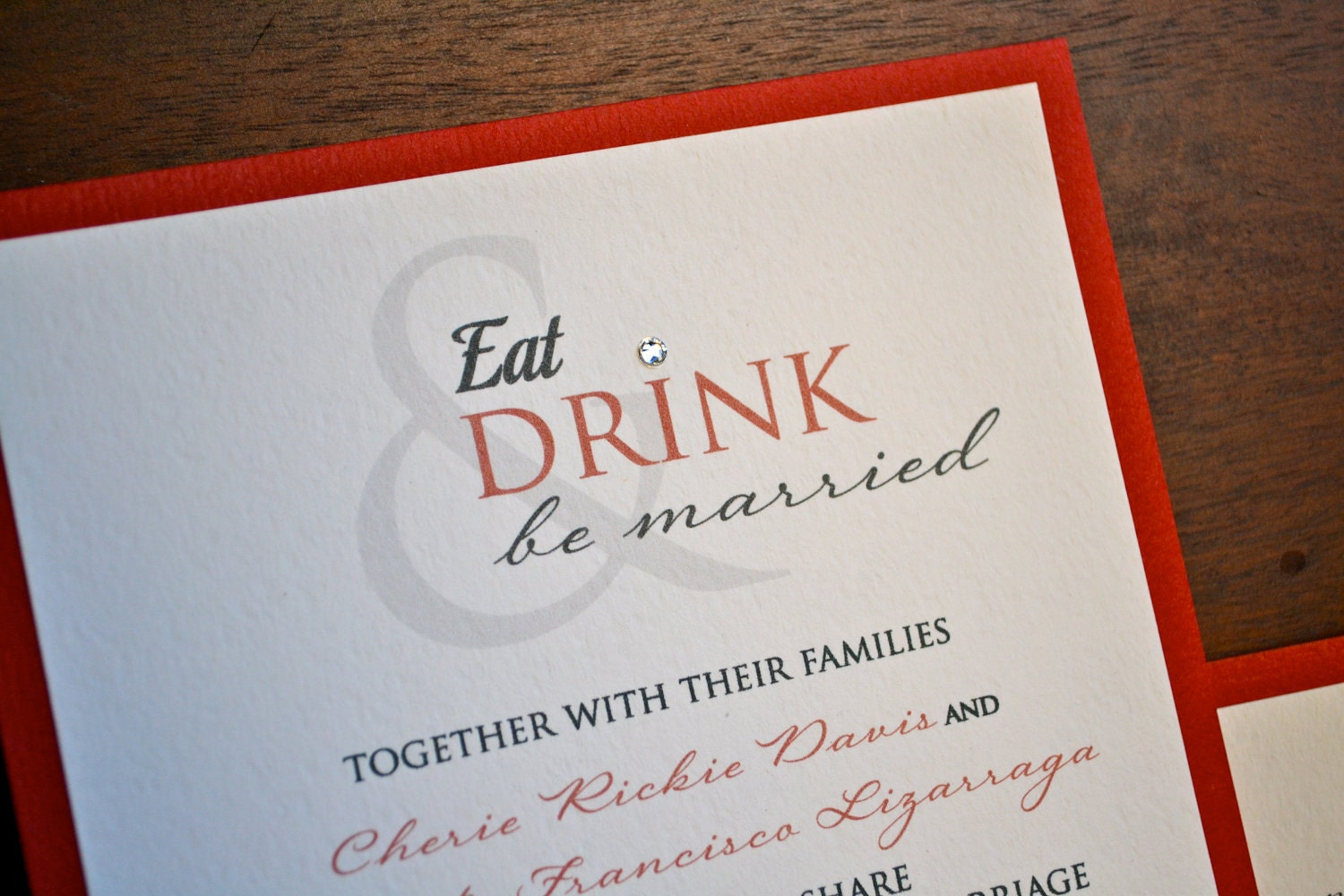 Wedding Invitations Eat Drink And Be Married: Eat Drink And Be Married Wedding Invitation By Nladegaard
