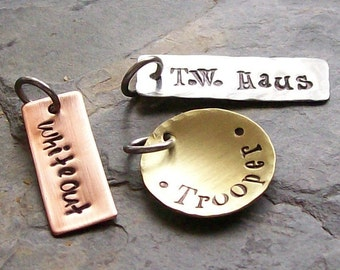 Personalized ADD ONS Tags for your Handstamped Jewelry