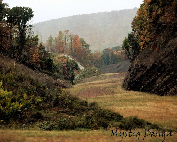 Ohio River Valley landscape, Buckeyes, Ohio State vista, Road trip journey - 8x10 Photography Print