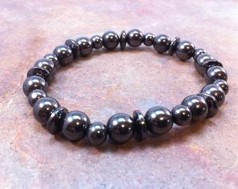 Hematite Saucer Bracelet