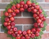 Fall Apple and Leaves Wreath