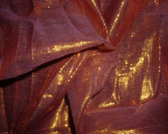 golden and pink shimmer fabric......cotton and shimmer yarn blend
