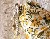 Yoga mat bag beaded cotton vintage fabric