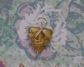 Light Amber Wire Wrapped Pendant/Charm
