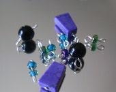 Purple Turquoise Mardi Gras Mix