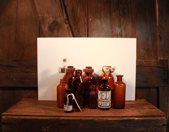 Vintage Apothecary Bottle Set