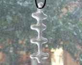 one of a kind pendant -  recycled fused clear glass