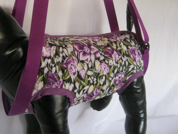 Dog Carrier Puppy Purse  Reversible SZ MED