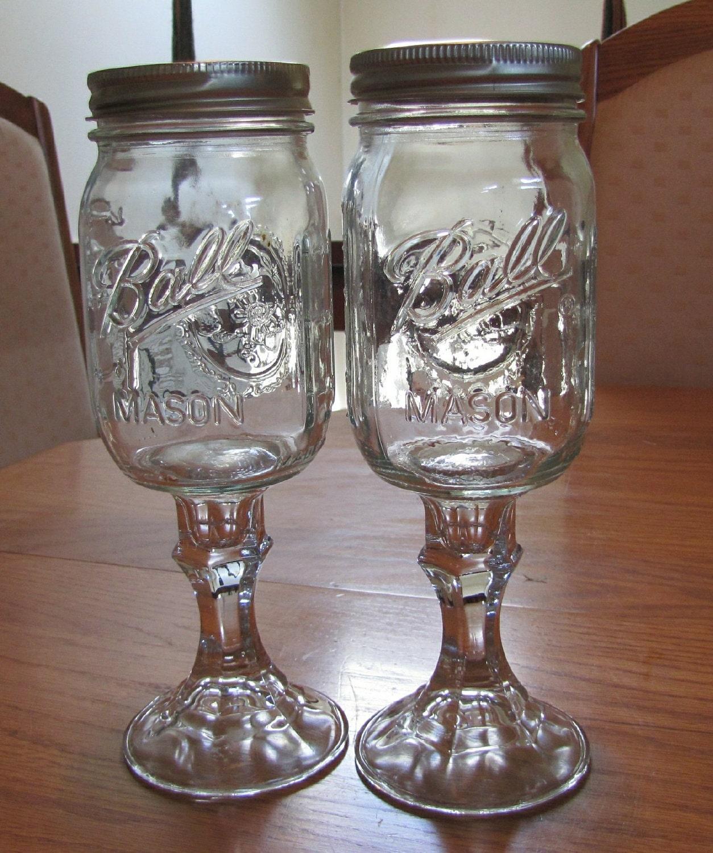 Multiples of 2 duck commander duck dynasty mason by masonmealsmore - Stemmed mason jars ...