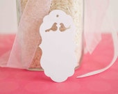 25 - Love Birds Note Cards, Tags, Thank you Notes, Wedding Favor tags