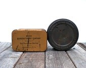 Vintage industrial tins / Kodak Eastman /  masculine / repurposed gift boxes / man cave / home office decor / minimalist / retro / patina