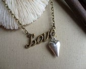 LOVE with all your Heart Necklace by rubiesandwhimsy
