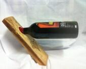Spalted European WIld Cherry Wine Tilt... Balancer With Engraved Bunch of Grapes. Custom Orders Taken