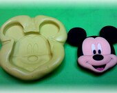 Silicone molde ,large face Mickie Mouse.