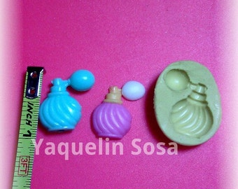 silicone mold vintage Bottle of perfume.