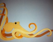 Die cut peacocks, feathers, koi, jellyfish, octopus. Private Listing for Jodi (languagejunkie)