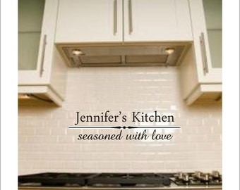 Personalized Kitchen Vinyl Decal