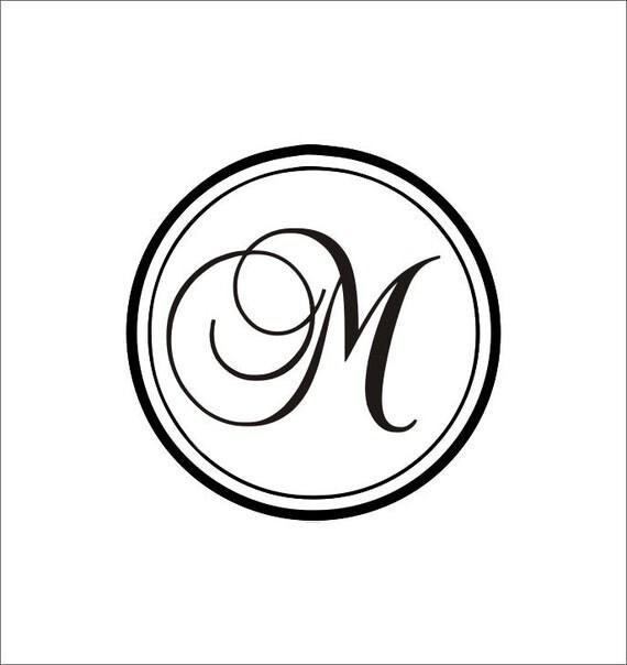 Items Similar To Circle Initial Monogram Home Decor Living