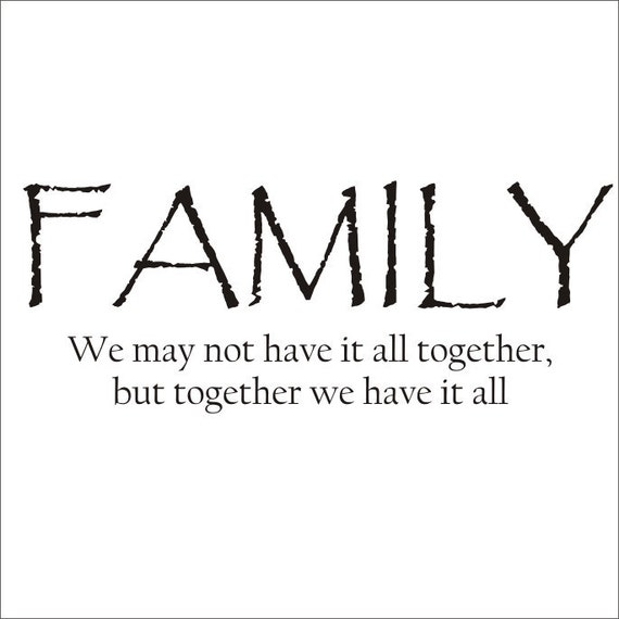 Family Quote Large Vinyl Decal Wall Decal Vinyl Wall Decal Family Vinyl Wall decal Home Decor Vinyl Lettering Housewares