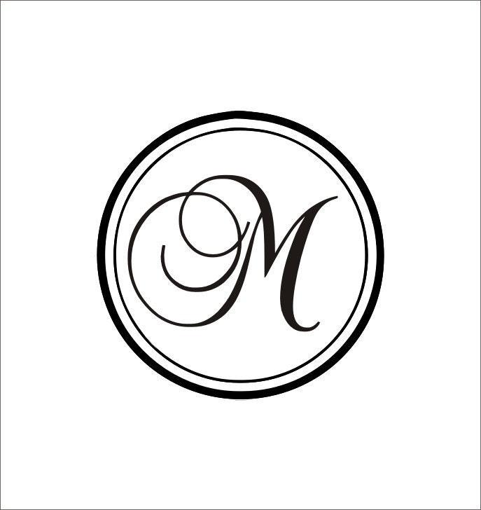Initial Home Decor: Circle Initial Monogram Home Decor Living By