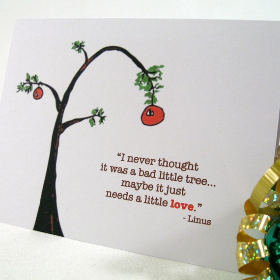 Christmas Quotes For Cards: Holiday Card Christmas Charlie Brown Greeting Faith Hope