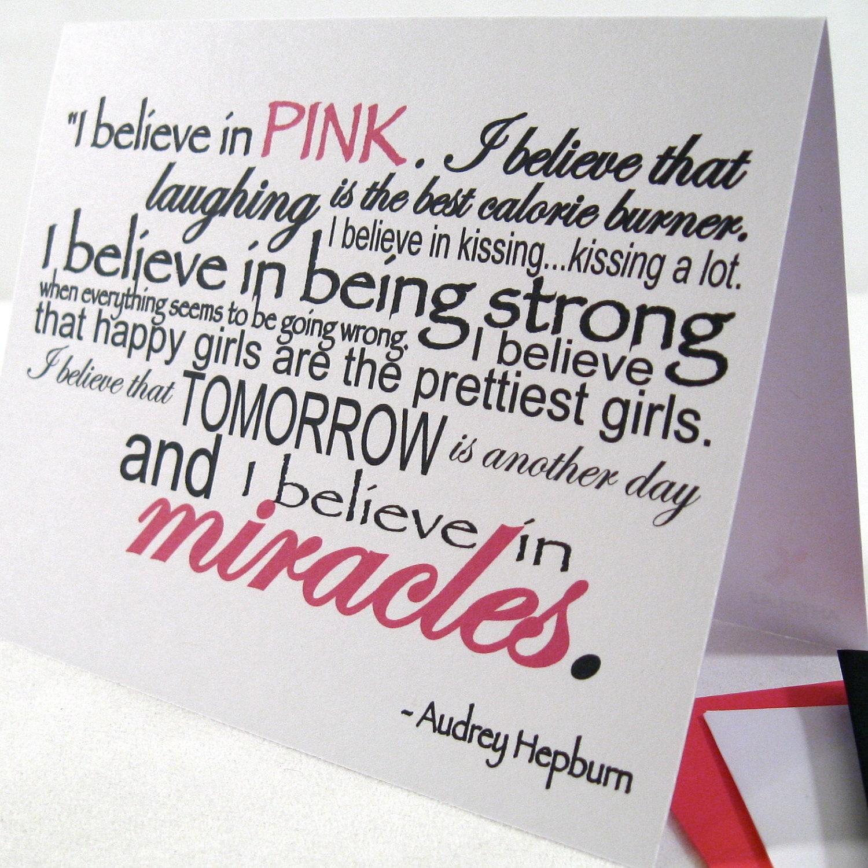 i believe in pink card happy girls prettiest girls