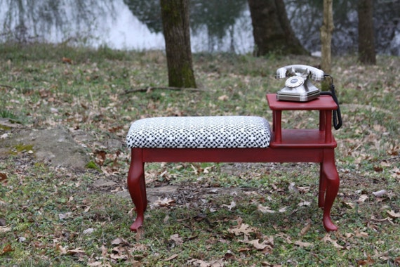 Local Sale Pending - Gossip Chair / Refinished Vintage Phone Table or Bench