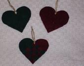 Velvet Ribbon Woven Heart Ornament
