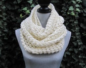 Soft & Thick Off White Infinity Scarf - FREE SHIPPING