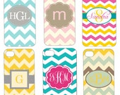 Personalized Monogram iPhone Case - Chevron iPhone 4 Case - Create Your Own - Custom iPhone 4 Case