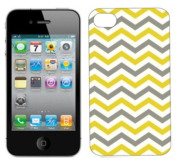 iPhone Case, iPhone 4 or 4S, iPhone cover - Chevron iPhone Case - Gray Skies