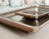 Danish Modern Serving Tray Set, Made by Kalmar of Denmark, Stainless Steel