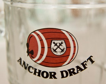Vintage Anchor Draft - Singapore Beer Mugs  Set of Four