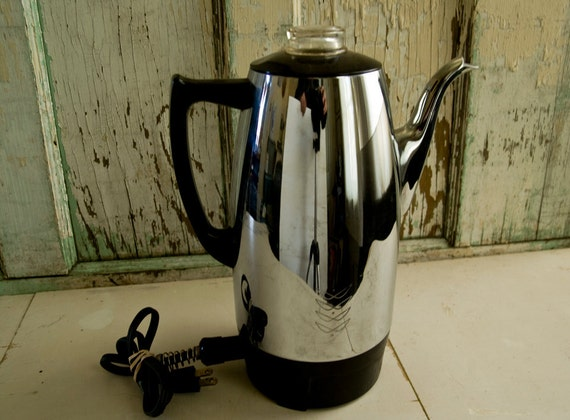Electric Percolator Coffee Maker Reviews : Vintage Westinghouse Electric Coffee Percolator Pot PE-552