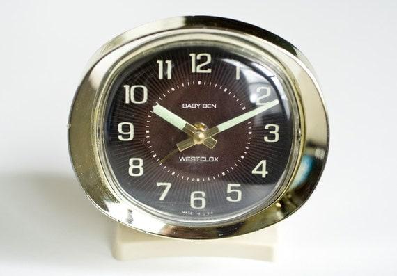 Vintage Baby Ben Alarm Clock By Westclox