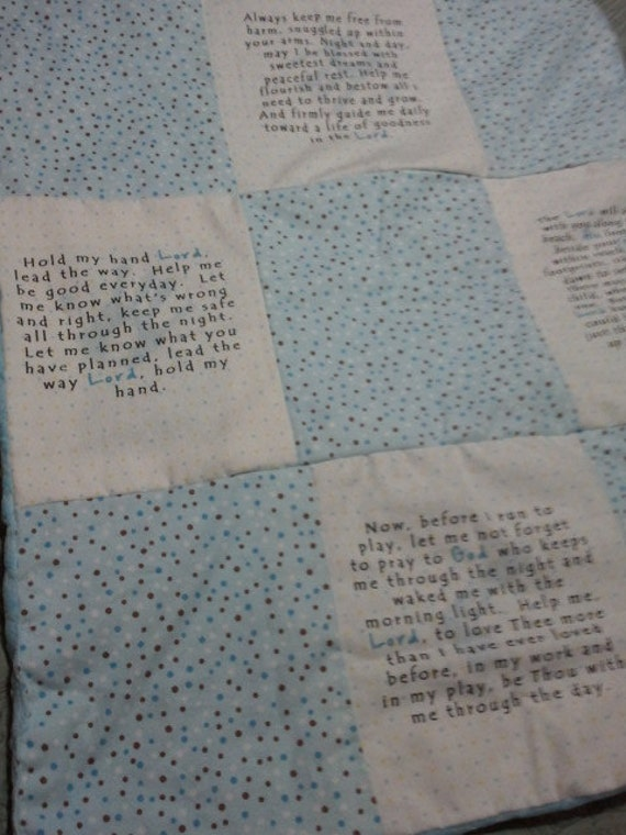 Baby Boy Blanket with 4 Christian Prayers
