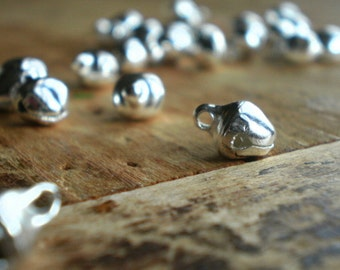 Odessa  Small (6mm) Bright Silver Jingle Bells (25)