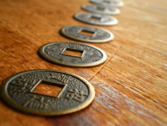 HaPpY CHiNeSe NeW YeAr - Peking Antique Brass Chinese Coins - 23mm - Great for Beading and Altered Art (6)