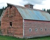 Old wood rustic barn Colorado photograph print 8x12