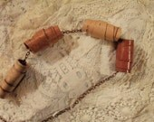 Free Flowing Birch Bark Beads on Copper Chain Necklace--Seconds