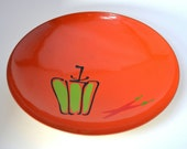 Orange Bowl - Mod Lacquerware - Made in Japan - 1960s