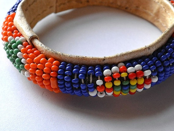 Colorful Leather Beaded Bracelet