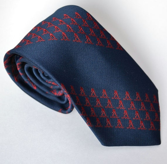 Reserved for Germain Quickly - Navy Blue Tie / Givenchy Novelty Yellow Pages Logo - Spring Sale - Coupon Code: Spring
