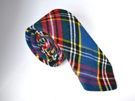 Scottish Plaid Tie - Wool Tie - Back to School