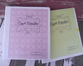 Caregivers Medical Binder Notebook.  Keeps Paperwork Organized and in one Place