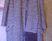 Vintage original  Saks fifth avenue winter coat-heavy, wool outer--FREE SHIPPING
