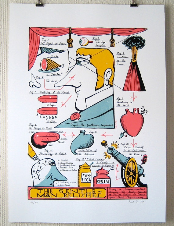 The Gentleman Relishes (screenprint)